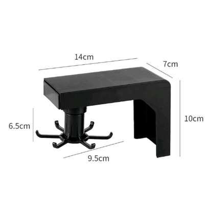 Multifunction shelf 6  rotating hooks organizer image 7