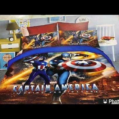 4 by 6 Cartoon Themed Duvet - Captain America image 1