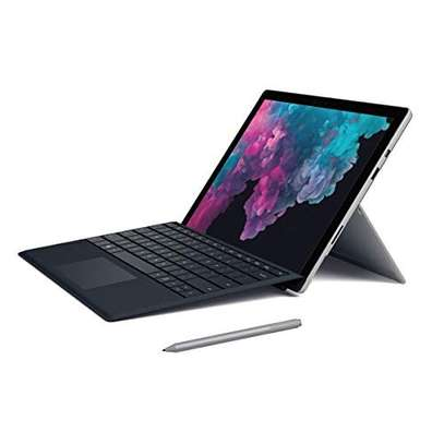 """2019 Microsoft Surface Pro 6 12.3"""" (2736x1824) 10-Point Touch Display Tablet Laptop PC W/Surface Type Cover, Intel 8th Gen i5-8250U, 8GB RAM, 128GB SSD, Windows 10 (Black Type Cover + Platinum Pen) image 1"""