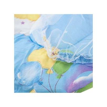 Collapsible Mosquito Insect Net Soft Cushion for Babies-BLUE image 2