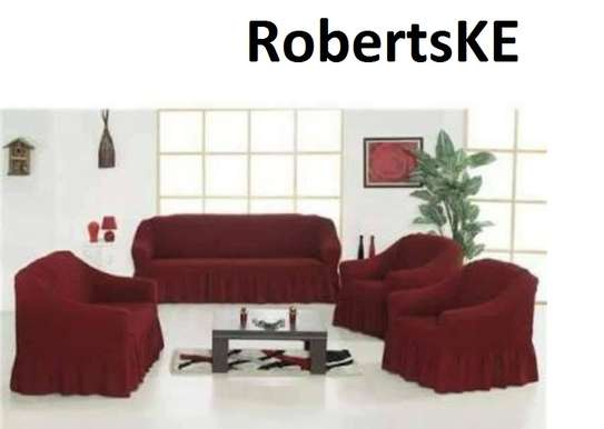 maroon stretchy sofa covers