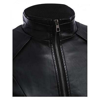 Male Warm Slim Leather Coat image 1