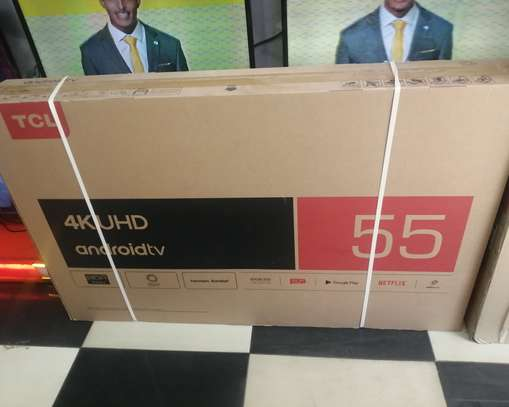 """Tcl 55""""smart uhd android tv image 1"""