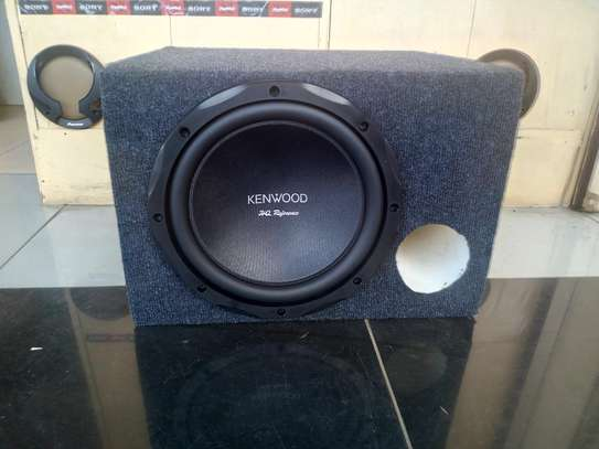Original Deep Bass 1500w  Kenwood KFC-HQR3000 fitted in cabinet image 1