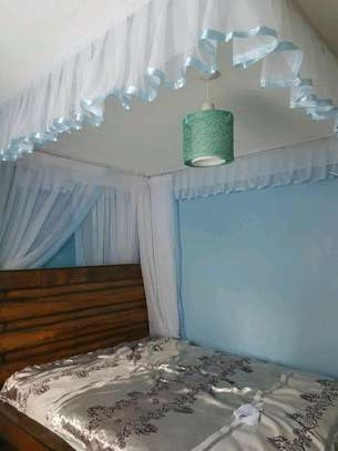 Brand new custom made Rail shears mosquito nets sliding like curtains fixed on the ceiling
