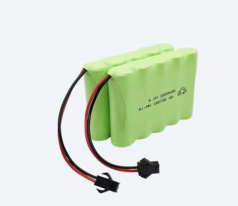 6V AA Battery Pack,Upgrade 2500mAh Rechargeable Batteries image 1