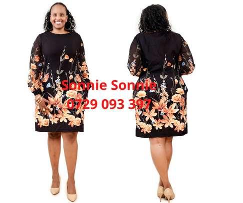 Yellow/black floral Turkey shift dress image 1