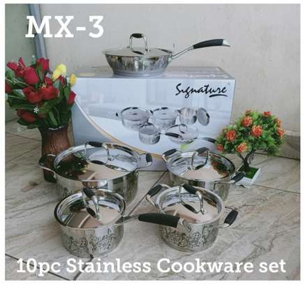 10 PCS Stainless Cookware