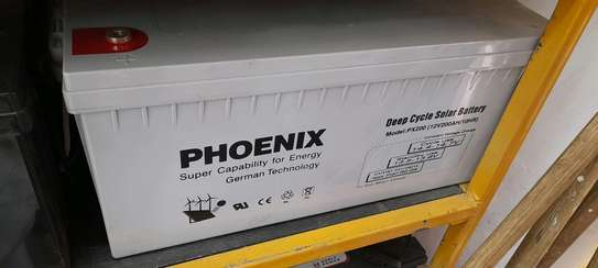Phoenix Solar Gel Deep Cycle Battery 12v 200ah 10hr image 1