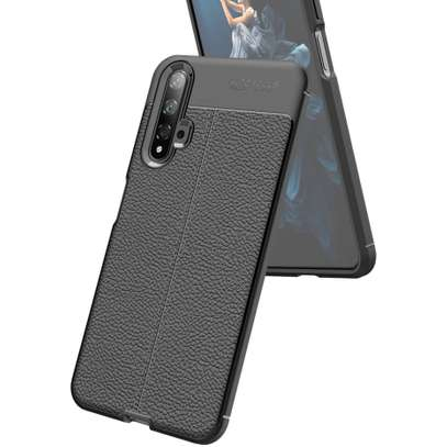Auto Focus Leather Pattern Soft TPU Back Case Cover for Huawei Nova 5T image 2