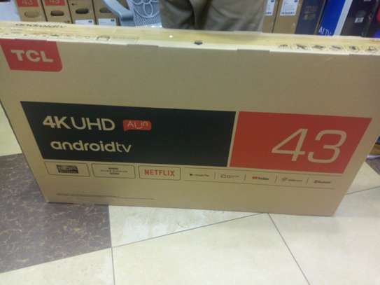 """new 43 """" tcl smart android TV image 1"""