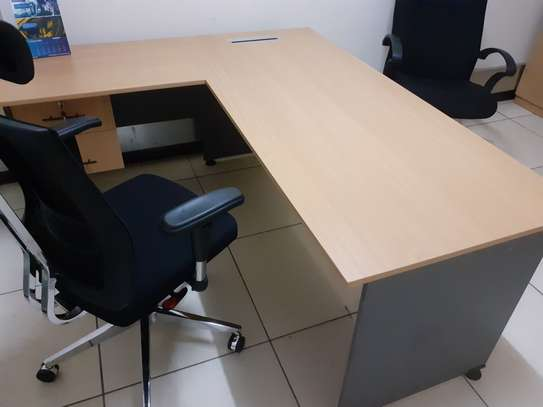 L-Shaped Executive Desk 1.6Meter Ksh. 23,500.00 With Free Delivery image 2