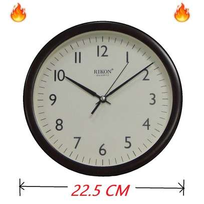 Rikon Wall Clock - Non Ticking - Ivory Dial