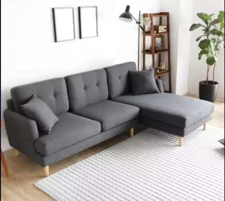 New charcoal grey L shape sofa image 1
