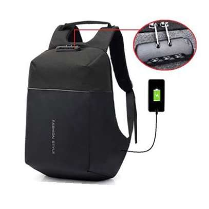 Antitheft Bags With Charging Port And Password Lock - Black