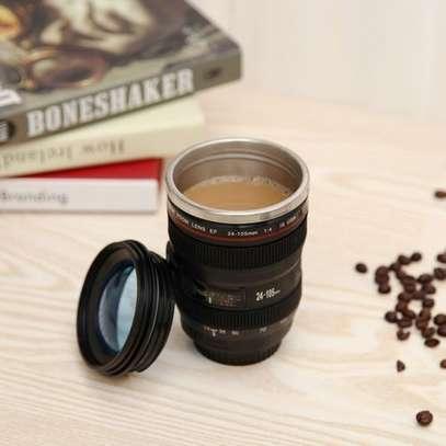 Camera Lens Shape Cup Coffee Tea Travel Mug Stainless Steel Vacuum Flasks Worldwide Store image 2