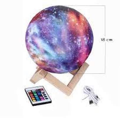 Moon Lamp,Eguled 5.9 inches Galaxy Lamp Night Light 16 Colors LED Moon Light with Stand Remote Touch Control and USB Rechargeable Home Décor (5.9 inches) image 1