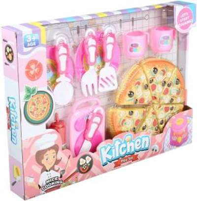 kids kitchen set with a cake image 1