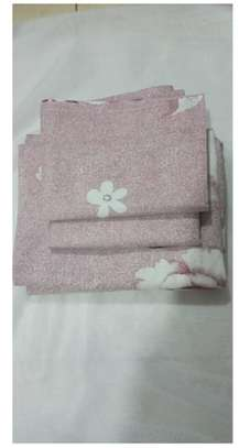 pink with white flowers bed sheets image 1