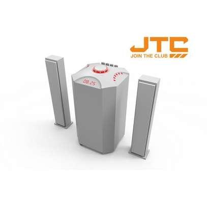 JTC J801 Plus 2.1 Channel Multimedia Speaker- 10000watts -White image 1