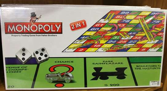2 in 1 monopoly and snake and ladder image 1