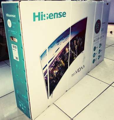 HISENSE 55INCH SMART CURVED UHD 4K TV image 1