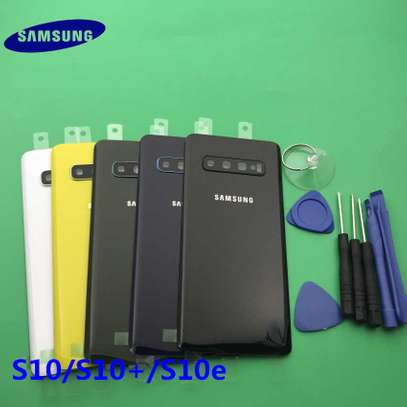Battery Cover Replacement Back Door Housing Case For Samsung Galaxy S10 Plus S10e S10 image 3