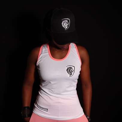 Pink On White Perfomance Vest