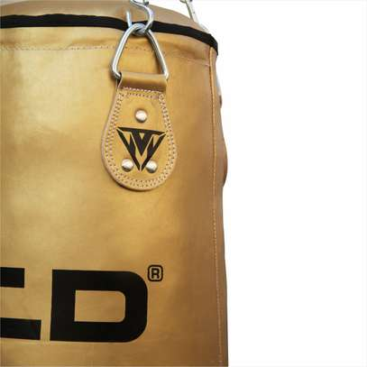 MCD Punching Bag 5 FT UNFILLED Set Kick Boxing Heavy MMA Training with Gloves Punching Mitts Hanging Chain Muay Thai Martial Arts image 3