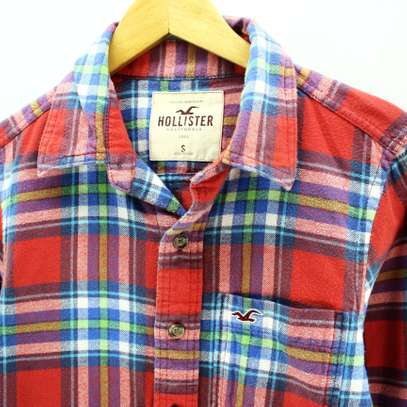 Hollister checked long sleeve shirts