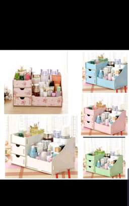 Wooden make up organizer image 1