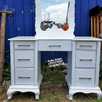 White dresser/modern dresser/dressing table/dressing mirror/dressing table with mirror image 4