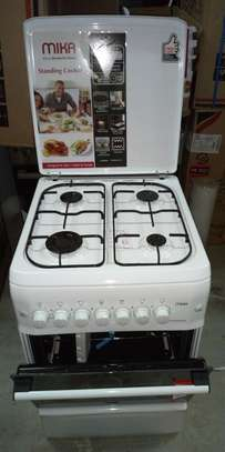 Mika Standing Cooker, 50cm X 55cm, 4GB, Gas Oven, White image 1