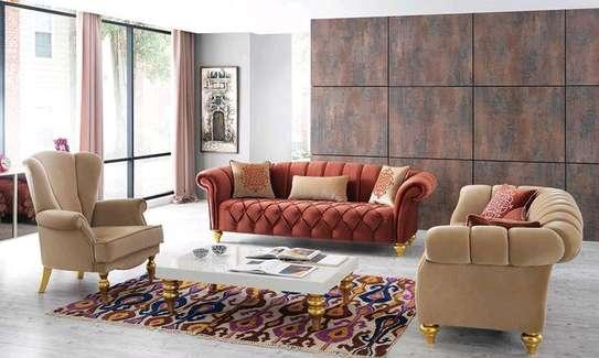 Best sofa set designs for sale in Nairobi Kenya/Sofa Nairobi/Orange sofas image 1