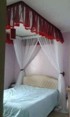Brand new custom made Rail shears mosquito nets sliding like curtains fixed on the ceiling image 3