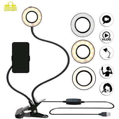 Unifree Professional Selfie Ring Light and Cell Phone & Webcam Holder Stand for Live Stream, Makeup TIK Tok, Vigo, YouTube and Video Recording. image 3