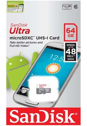 Sandisk 64GB Ultra Micro SD SDHC Class 10 TF Memory Card 80MB UHS-I image 1