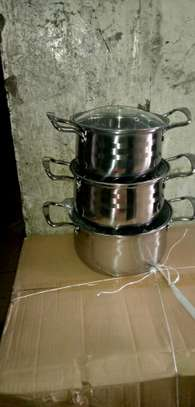 3pcs stainless steel sufuria /induction sufuria