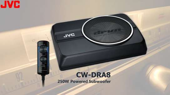 JVC Underseat Subwoofer Compact Powered Subwoofer