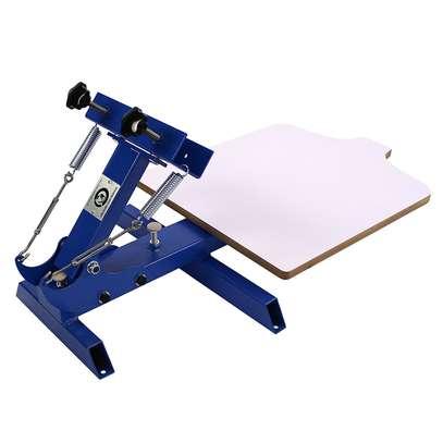 Manual 1 Color 1 Station Silk Screen Printing Machine T-Shirt Press Printer image 1