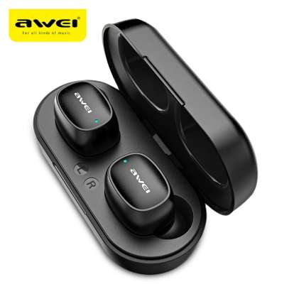 Awei T16 TWS Wireless Charging In-ear Stereo Bluetooth 5.0 Earphones image 4