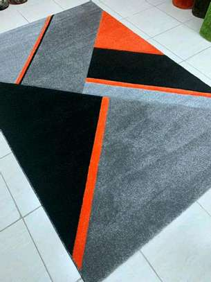 Turkish Grey and Orange Carpet image 1