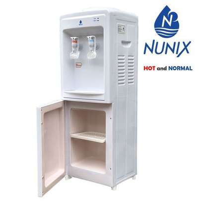 Nunix Hot And Normal Free Standing Water Dispenser-White image 1