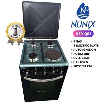 Nunix 3+1 Free Standing Cooker With Free Gas Pipe/Regulator image 1