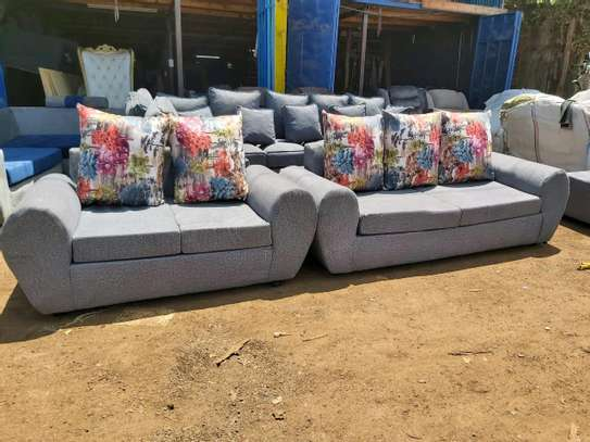 New 5 seater sofa( gray) image 1