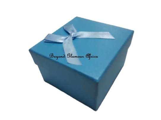 Blue Gift Boxes With Cover Ribbon image 2