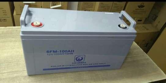 rechargeable lead acid battery-100 AH image 1