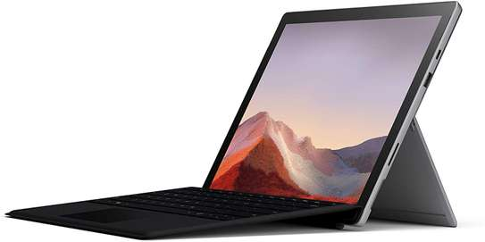"""New Microsoft Surface Pro 7 – 12.3"""" Touch-Screen - 10th Gen Intel Core i5 - 8GB Memory - 128GB SSD (Latest Model) – Platinum with Black Type Cover image 1"""