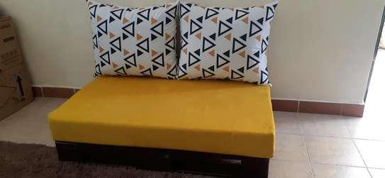 2 seater pallet seat/ pallet sofa/pallet furniture/ image 2