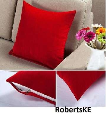 soft red velvet throw pillow image 1